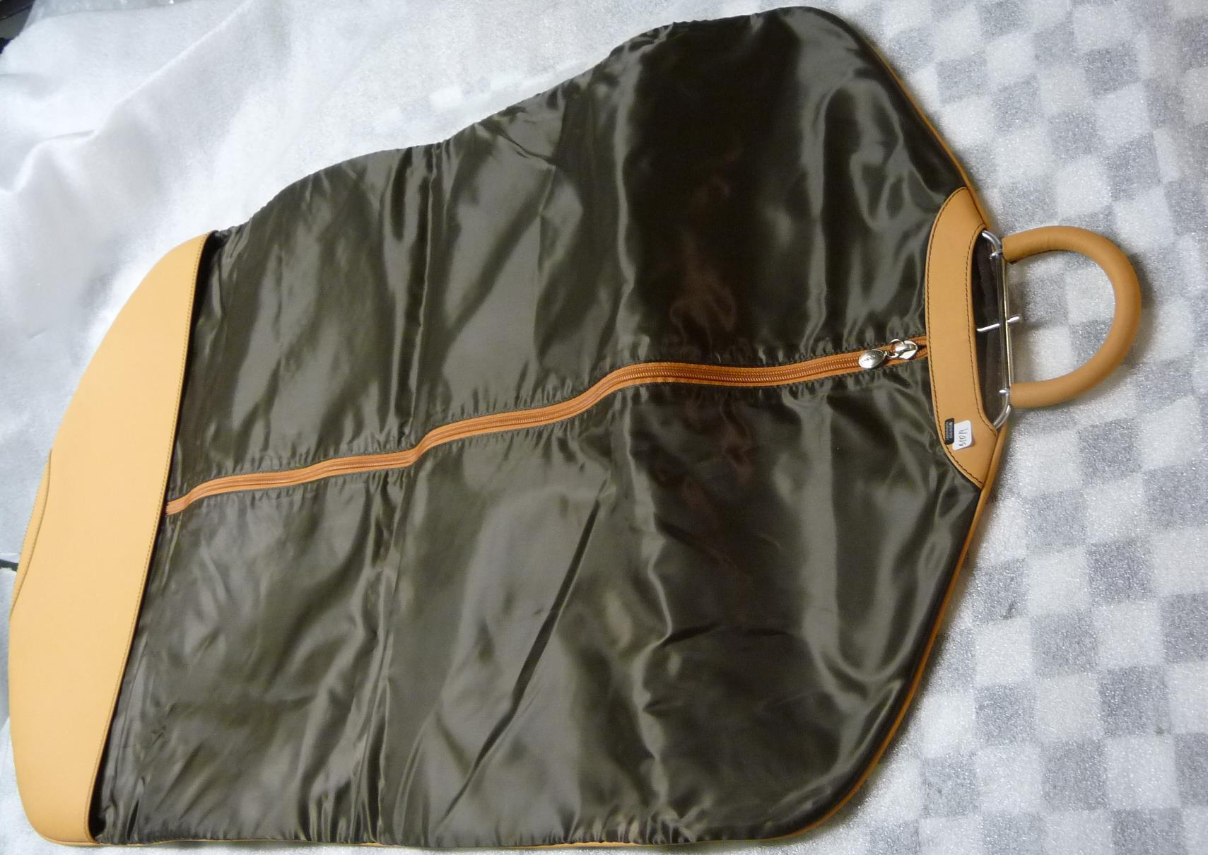 "Ferrari Leather suit bag  Original OEM OE Genuine ""Light Almond"" Nice"