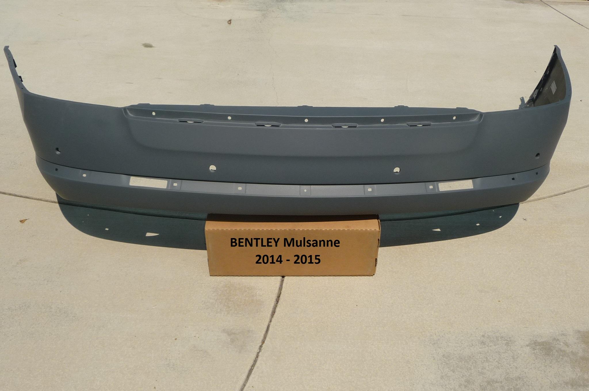 "2011 2012 2013 2014 2015 2016 Bentley Mulsanne Rear Bumper Cover ""Remaufactured"" 3Y0807421 OEM OE"