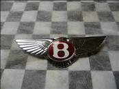 "Bentley Red Label Flying ""B"" badge dark red center, with Pad 3W8853383 OEM"