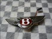 "Bentley Continental GT GTC Trunk Badge Emblem with Electric Push Botton ""Red"" 3W0853630K, 3W0.853.630.K OEM OE"