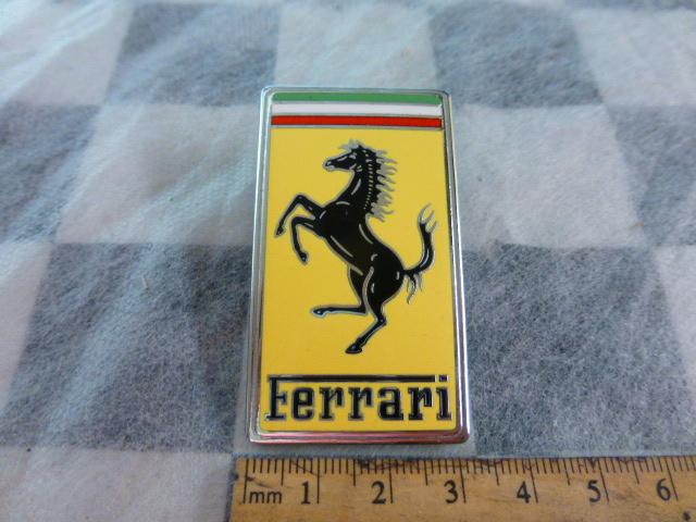 Ferrari Front Hood Bonnet Ornament Badge Emblem Enamel 65394800,  OEM OE