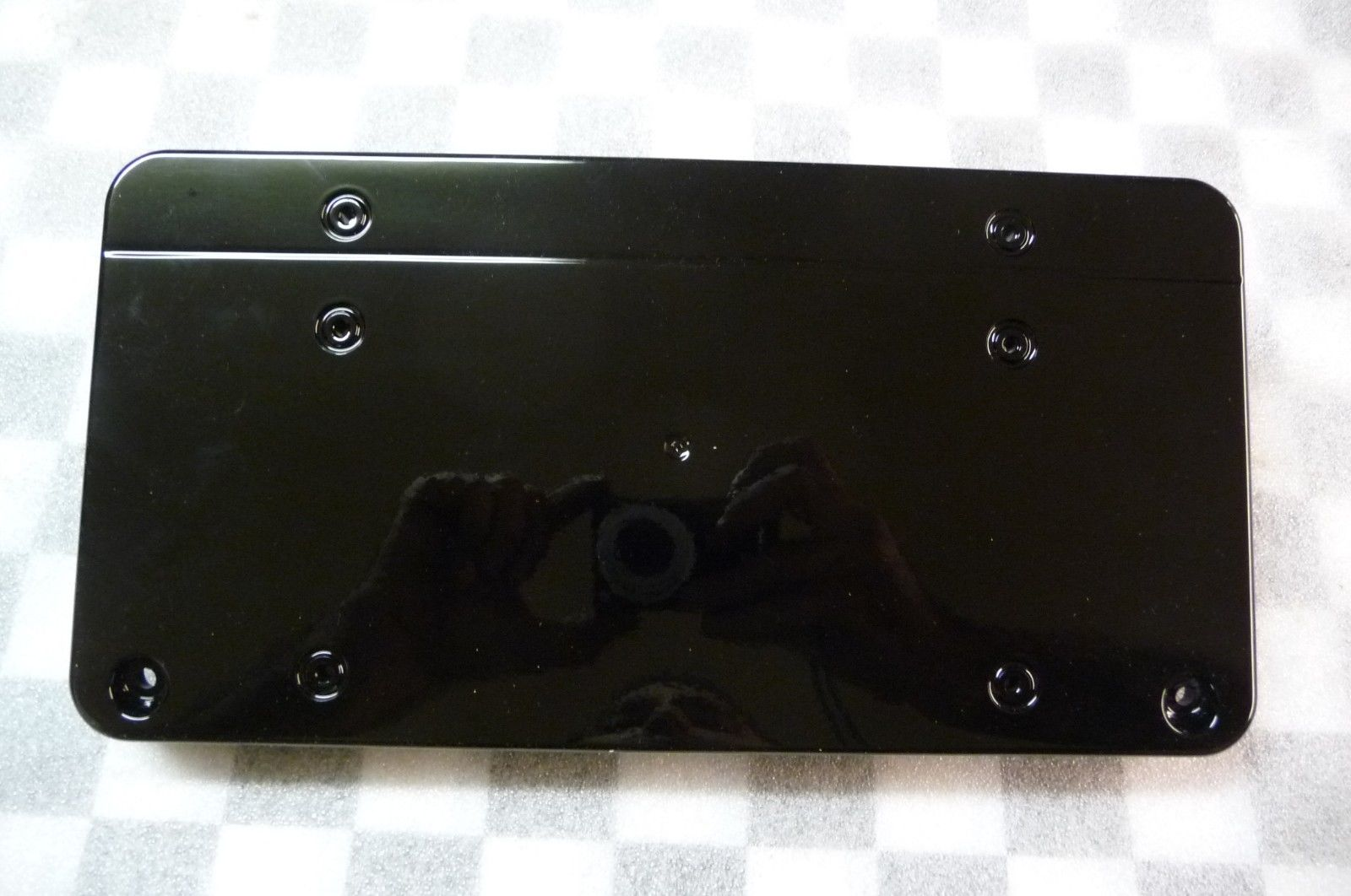 Mercedes Benz E Class Front Bumper Licence Plate Moulding BLACK NEW A 2108850281