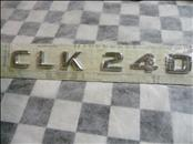 "2001 2002 2003 2004 2005 Mercedes Benz C240 Rear Trunk Lid ""CLK240"" Emblem Badge Nameplate A2098170115 OEM A1"