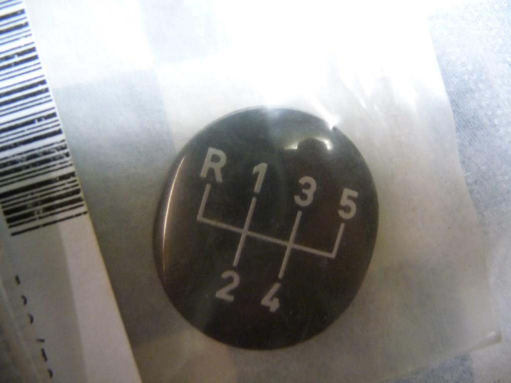 BMW 3 Series 5-Speed Gear Knob Badge Emblem 25111221611 OEM A1