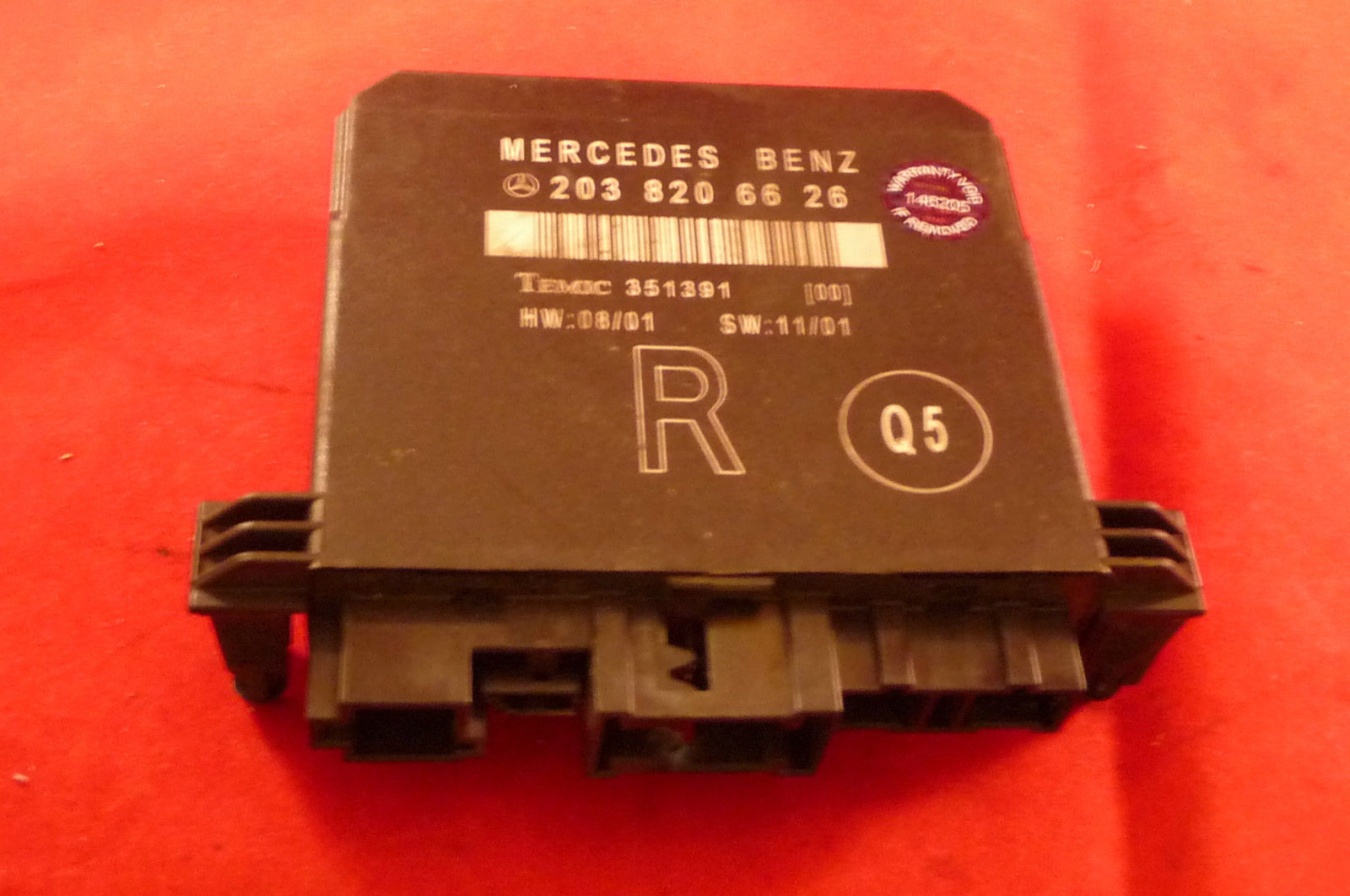 Mercedes Benz C Class W203 Door Control Unit Rear Right A 2038206626 OEM OE