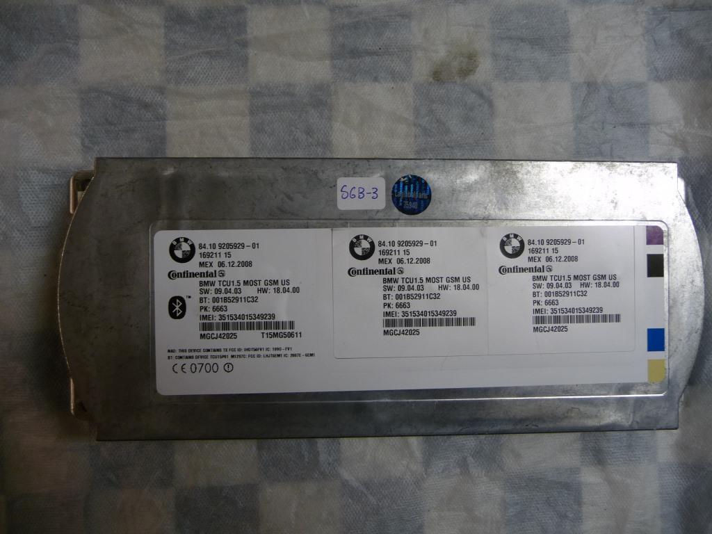BMW 1 3 5 6 7 Series X5 X6 Z4 Telematics Control Unit 84109231092 OEM A1