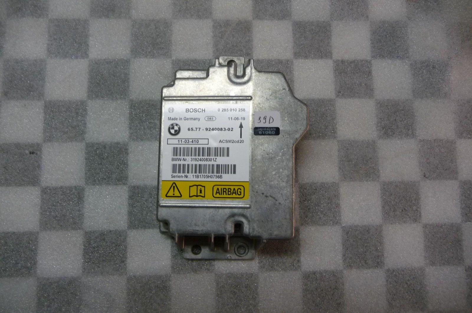 BMW 1 Series X1 X5 X6 Airbag Control Unit BOSCH 65779240083 OEM OE