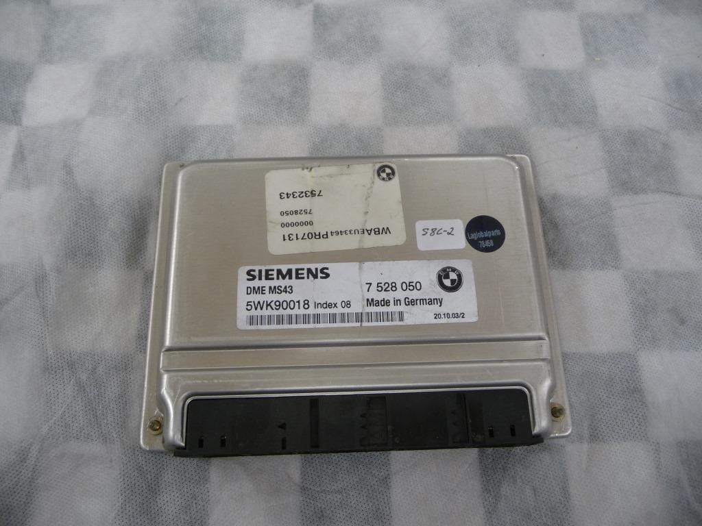 2001 2002 2003 2004 2005 2006 BMW E46 E39 E53 E36 325Ci 525i X5 Z3 ECM Basic Control Unit DME 12147528050 OEM A1
