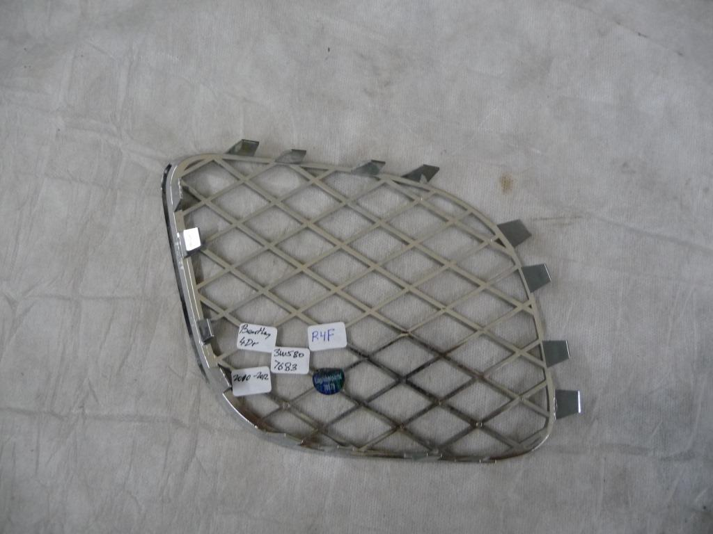 Bentley Continental Flying Spur Front Bumper Lower Left Grille 3W5807683F OEM A1