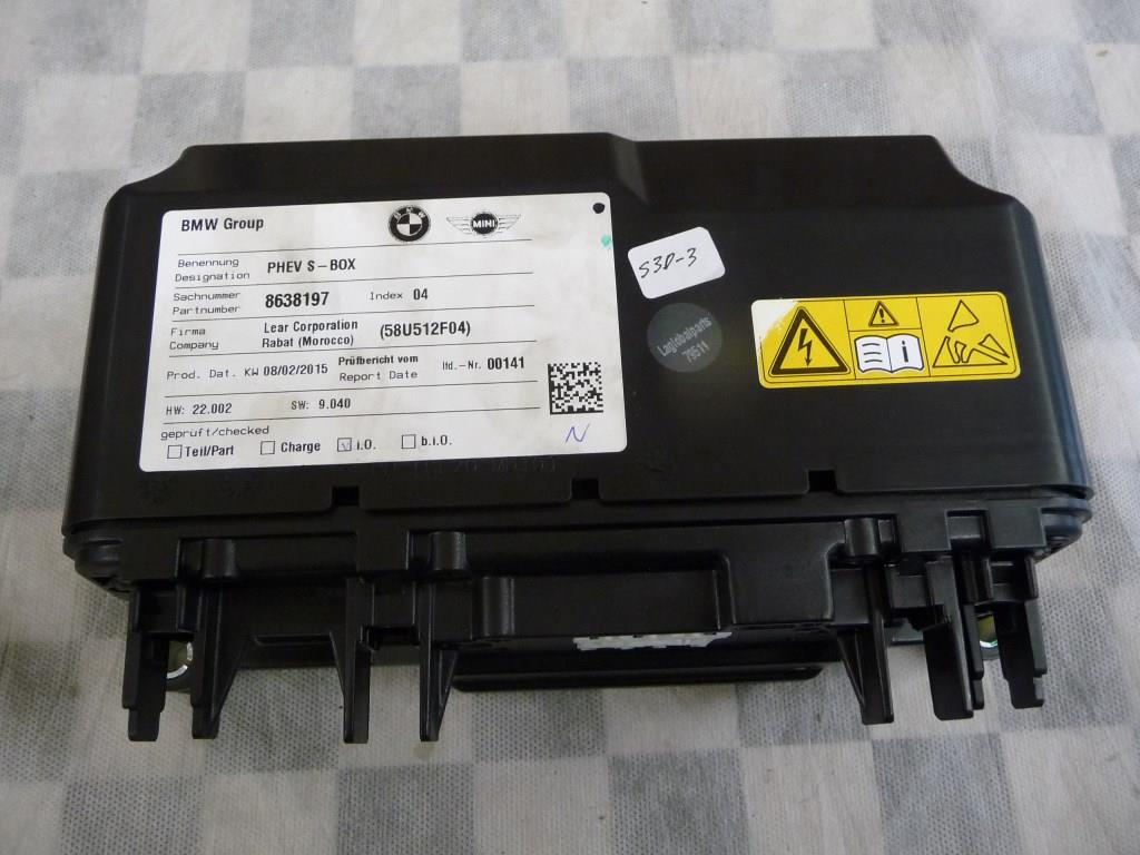 2016 2017 BMW F30 F15 330e X5 Safety Box, Drive Motor Battery Pack Disconnect Switch 61278686893 ; 8638197 ; 61278681536, 61278651068 OEM A1