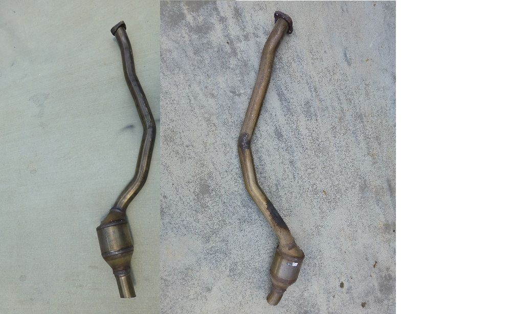 2006 2007 2008 2009 2010 BMW E60 3.0 525i 528i Left & Right Front Exhaust Pipe CAT, Catalitic 18307541848, 18307541847 OEM