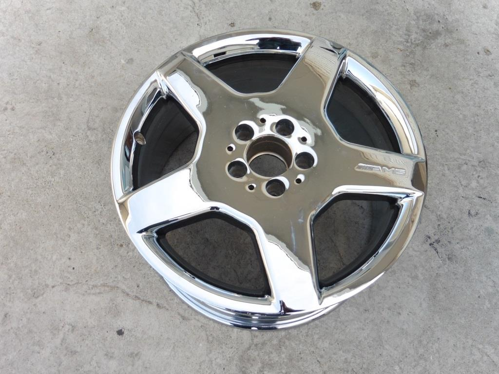 2002 2003 2004 2005 2006 Mercedes Benz W220 S430 S500 5 Spoke Wheel Rim 18x9 A2204013702 OEM A1