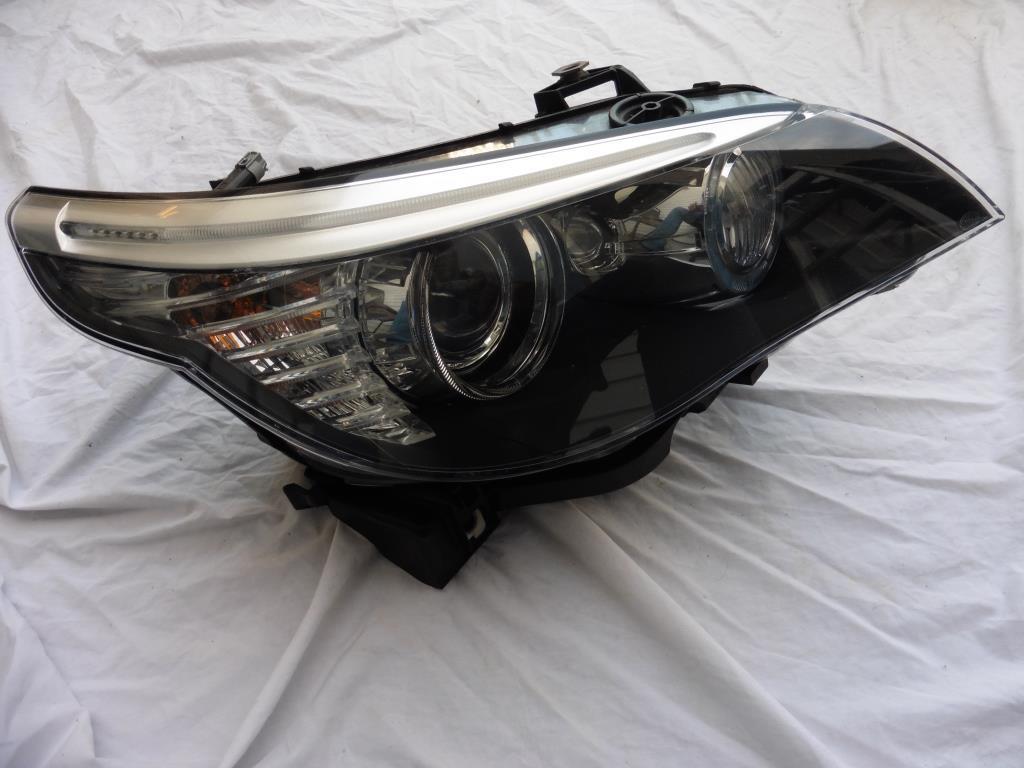 2007 2008 2009 2010 BMW E60 E61 528i 535i 550i M5 Adaptive Bi Xenon Right Passenger Headlight 63127045696 OEM