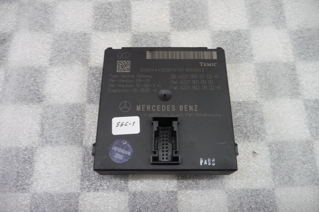 11-14 Mercedes Benz CL Class Central Gateway Control Module A2219006702 OEM A1