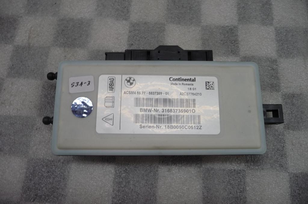 12-17 BMW 2 3 4 5 6 7 Series X3 X4 X5 Airbag Control Module 65776837359 OEM A1