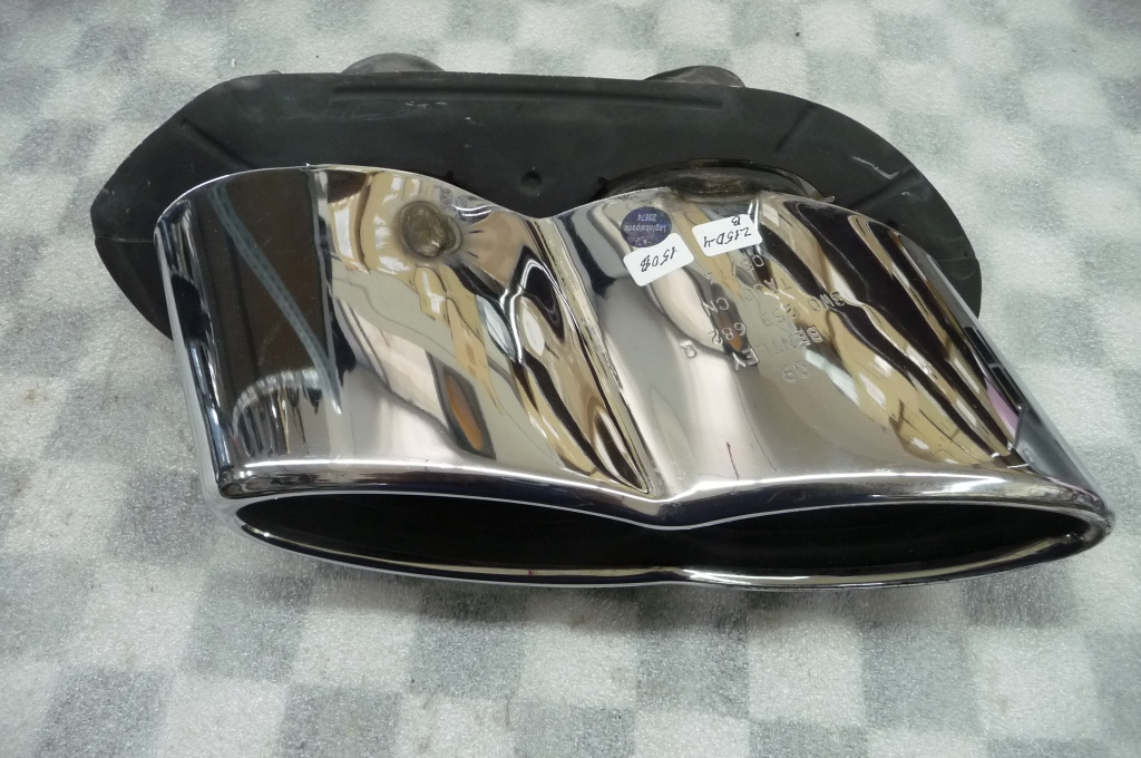 "2012 2013 2014 2015 2016  Bentley Continental GT GTC right, Sport version, PR-DH4 Exhaust Tip ""TAJC CN"" 3W0253682Q; 3W0.253.682.Q OEM - Used Auto Parts Store 