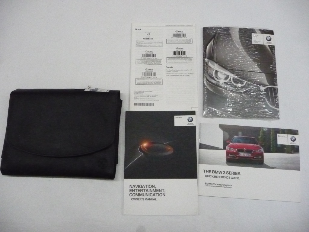 2015 BMW 3 Series 335i Owner's Manual Set With Case OEM