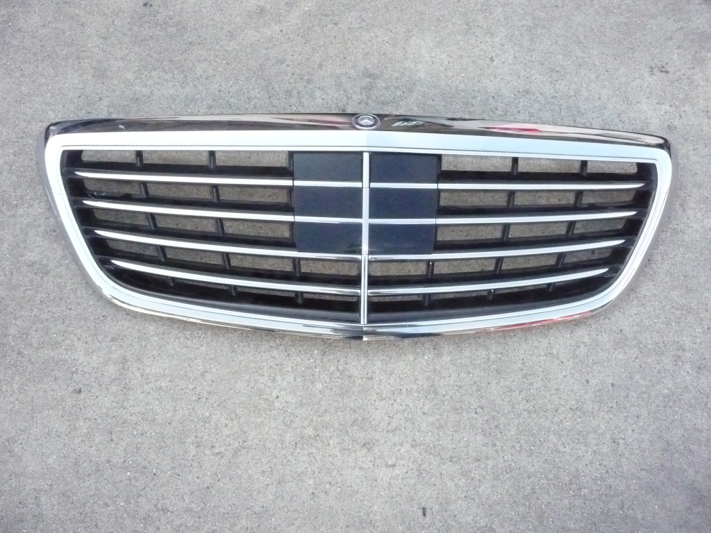 2014 2015 2016 Mercedes Benz W222 Front Radiator Grille  w/Distronic Cruise Control w/Surround View w/Night View option 2228800483 OEM OE
