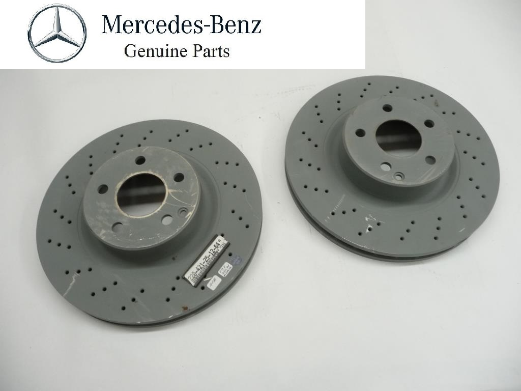 2000 2001 2002 Mercedes Benz W220 CL500 S430 S500 Front Brake Discs Pair 2204212512 OEM OE