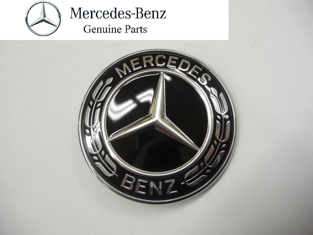2017 2018 Mercedes Benz GLC300 GLE350 GLS450 Hood Emblem Badge Black A0008171601 OEM OE