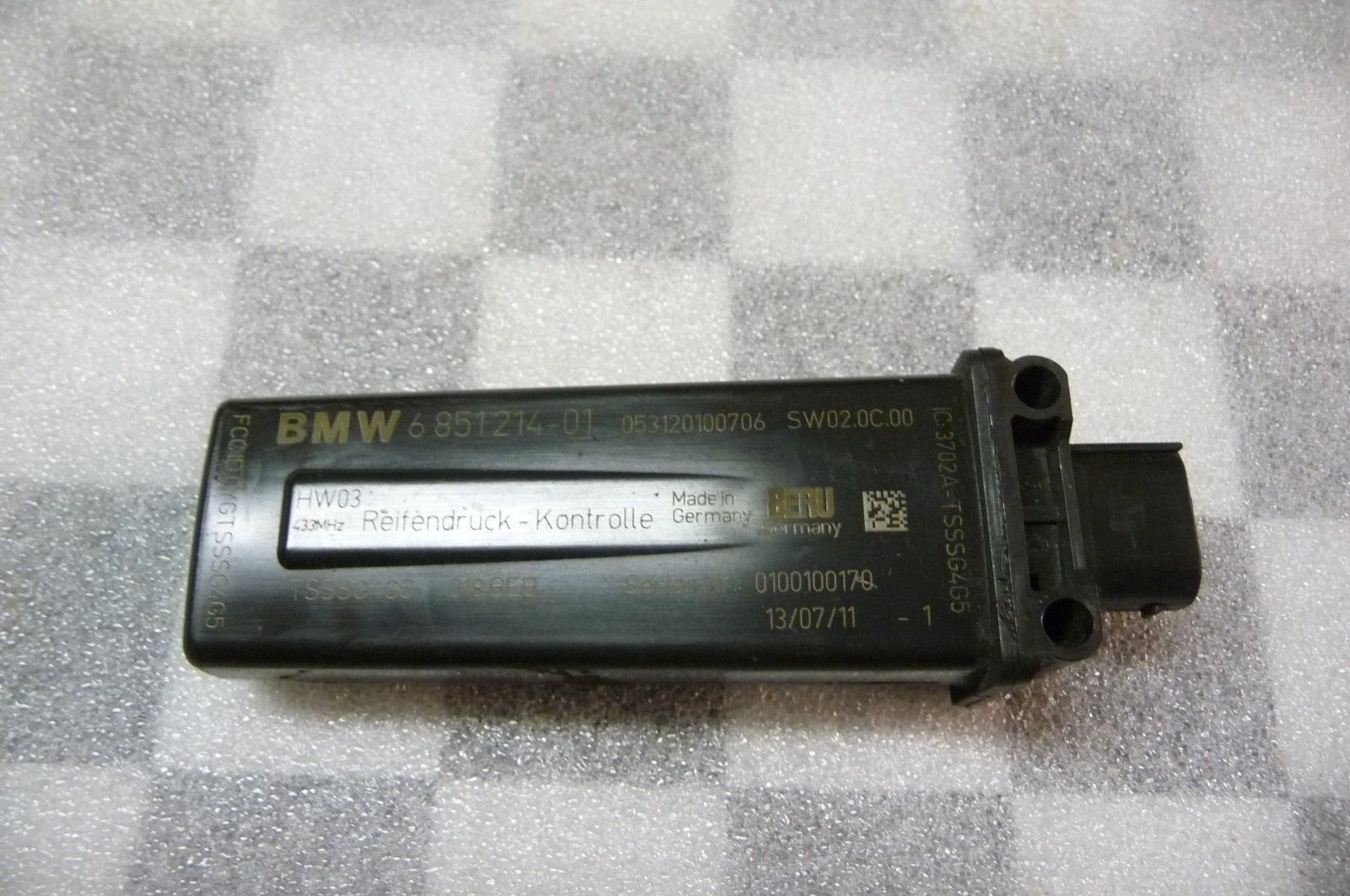 BMW 5 6 7 Series X3 X4 Tire pressure RDC Control Unit 36106853670 OEM OE