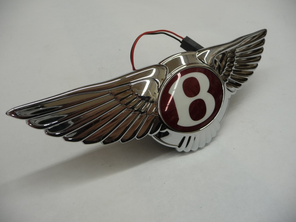 2012 2013 2014 2015 2016 2017 Bentley Continental GT GTC Flying Spur Rear Boot Switch Wings Badge Assembly 3w0853630 OEM