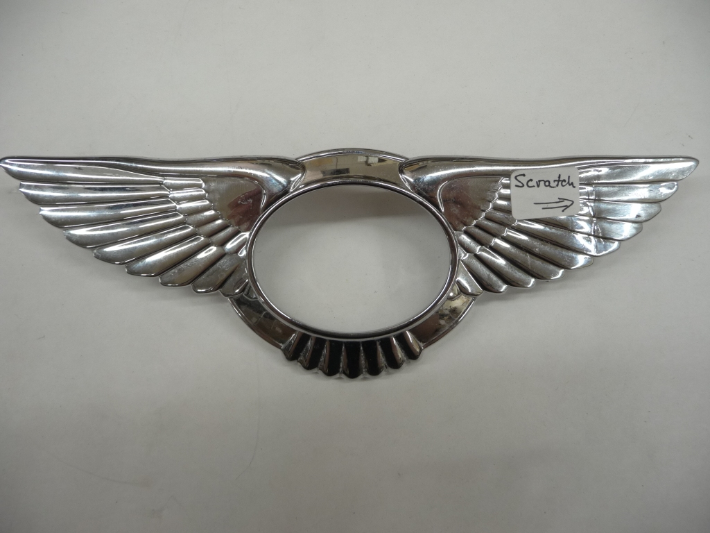 2004 2005 2006 2007 2008 2009 2010 2011 Bentley Continental GT GTC Flying Spur Front Grille Grill Badge Wings Emblem Ornament 3W8853689A - Used Auto Parts Store | LA Global Parts