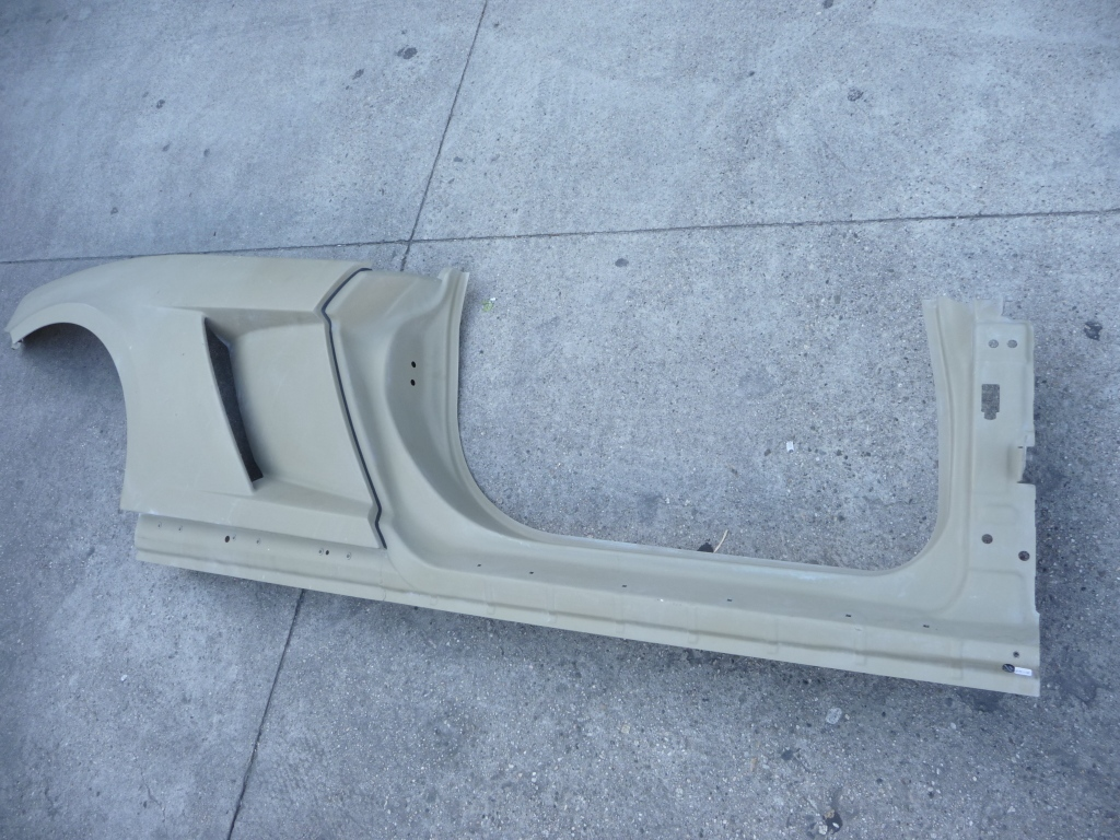 2010 2011 2012 2013 2014 Lamborghini Gallardo Spyder Spider Rear Right Fender Quarter Panel Wing Door Frame Assembly 407809010A; 407809604A; 407810578 OEM