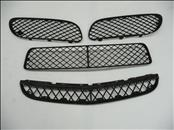 2003 2004 2005 2006 2007 2008 Bentley Continental GT GTC Front Bumper Black Plastic Grille Grill Set 3W8807675A, 3W8807683A, 3W8807682A, 3W8807667A OEM OE