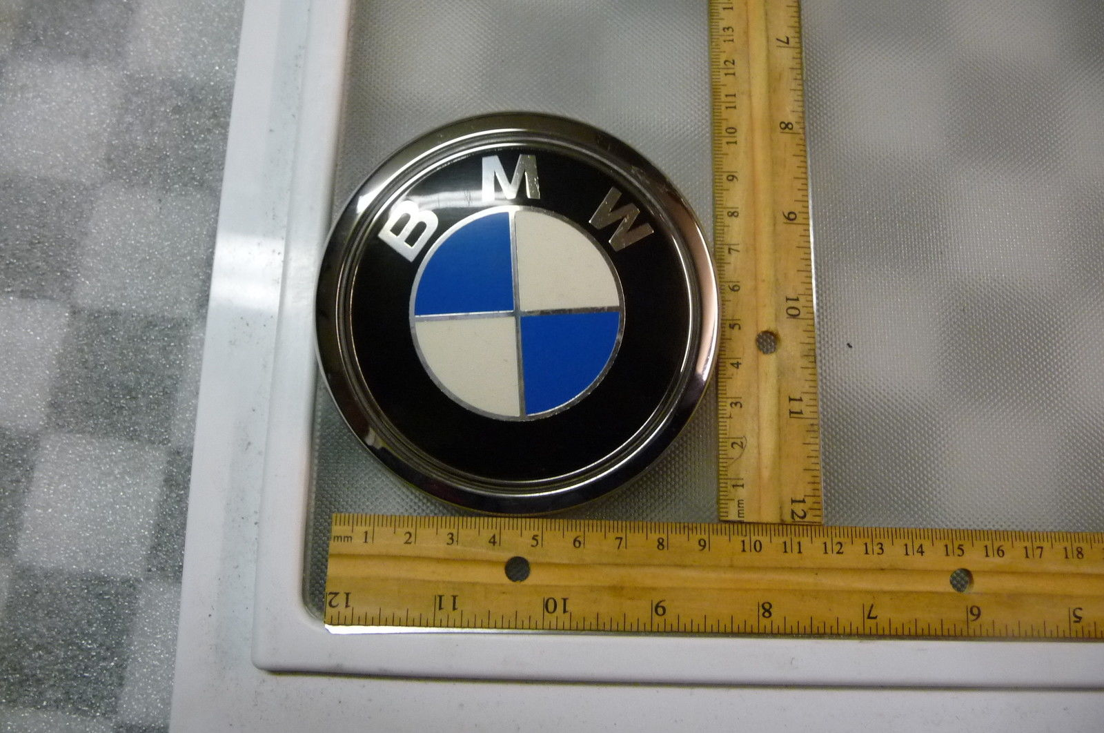 BMW 7 Series B7 Rear Trunk Lid Emblem Logo Badge Sign 51147135356 OEM OE
