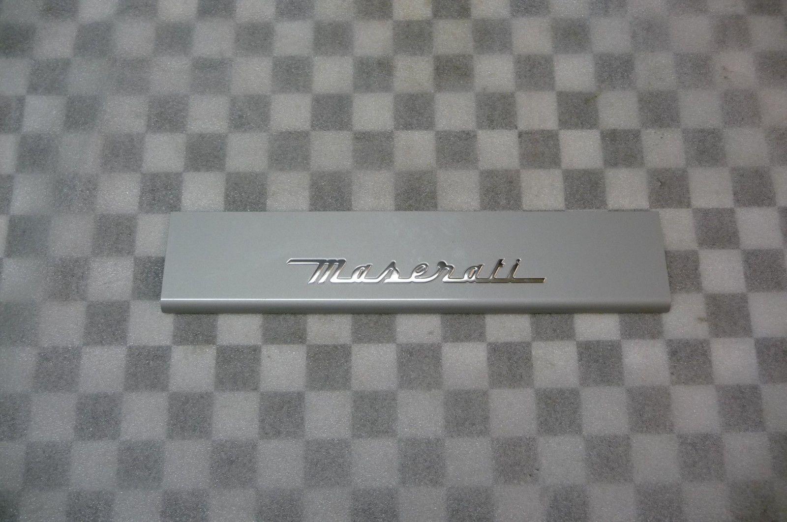2003 2004 2005 2006 2007 2008 2009 2010 2011 2012 Maserati Quattroporte QP7 Rear Kick Plate, Batticalcagno 67066000 OEM OE