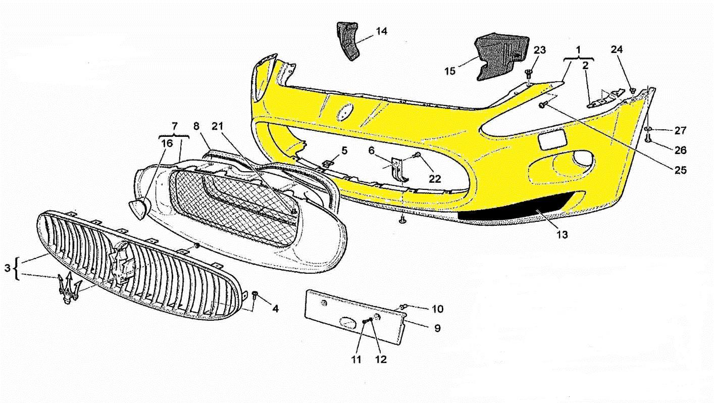 Maserati GranTurismo Front Bumper Cover PDC Type 980145003 - Used Auto Parts Store | LA Global Parts