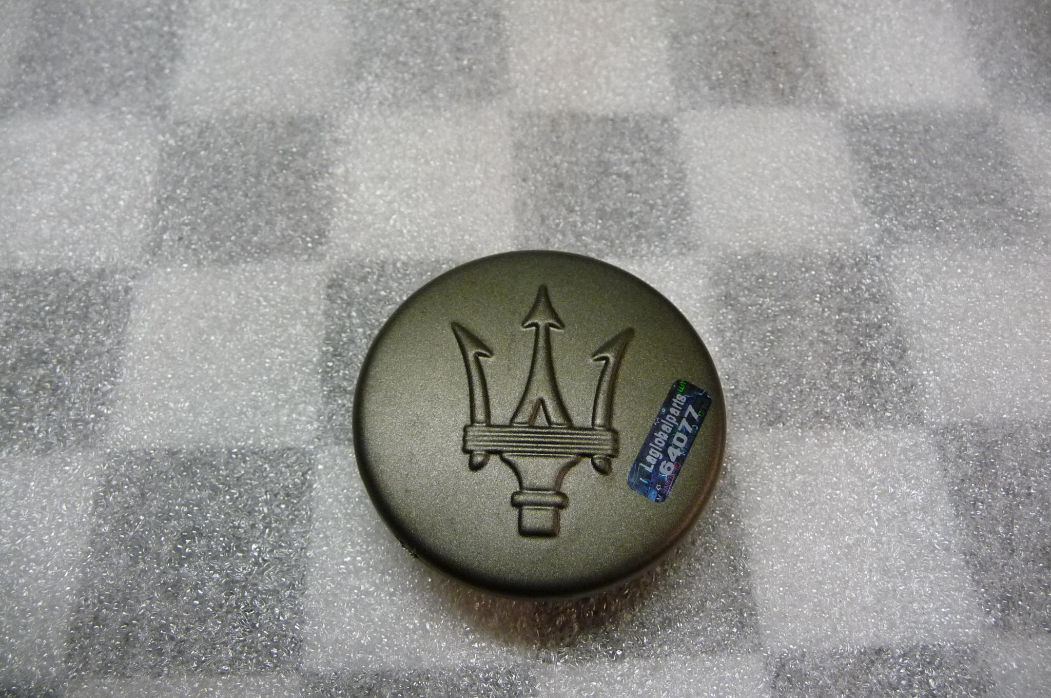 Maserati Factory, OEM Genuine Grey Wheel Center Cap  - Used Auto Parts Store | LA Global Parts