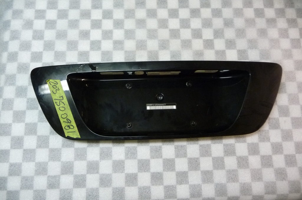 Mercedes Benz C Class Rear Trunk Lid License Plate Recess A 2037500981 OEM OE