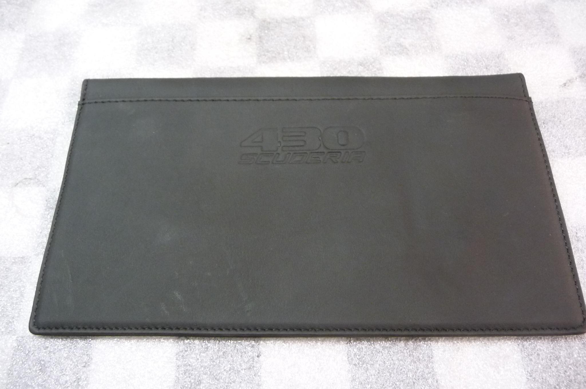 Ferrari F430 430 Scuderia Black Leather Document Envelope 243468 - Used Auto Parts Store | LA Global Parts