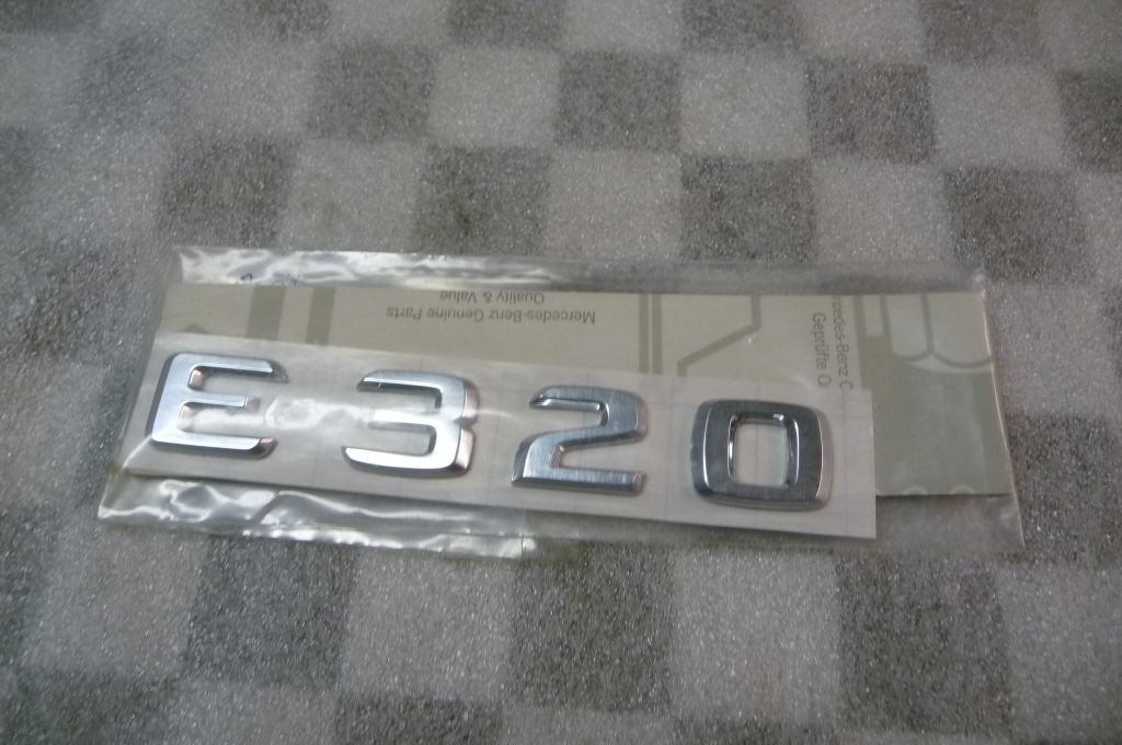 Mercedes Benz E320 Rear Trunk Lid Adhesive Emblem Nameplate NEW A 1248175815