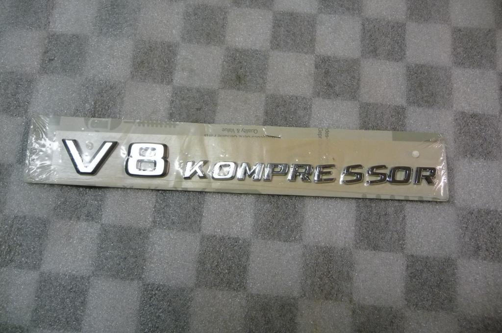 Mercedes Benz Front Fender V8 KOMPRESSOR Emblem Type Designation A 2308170515