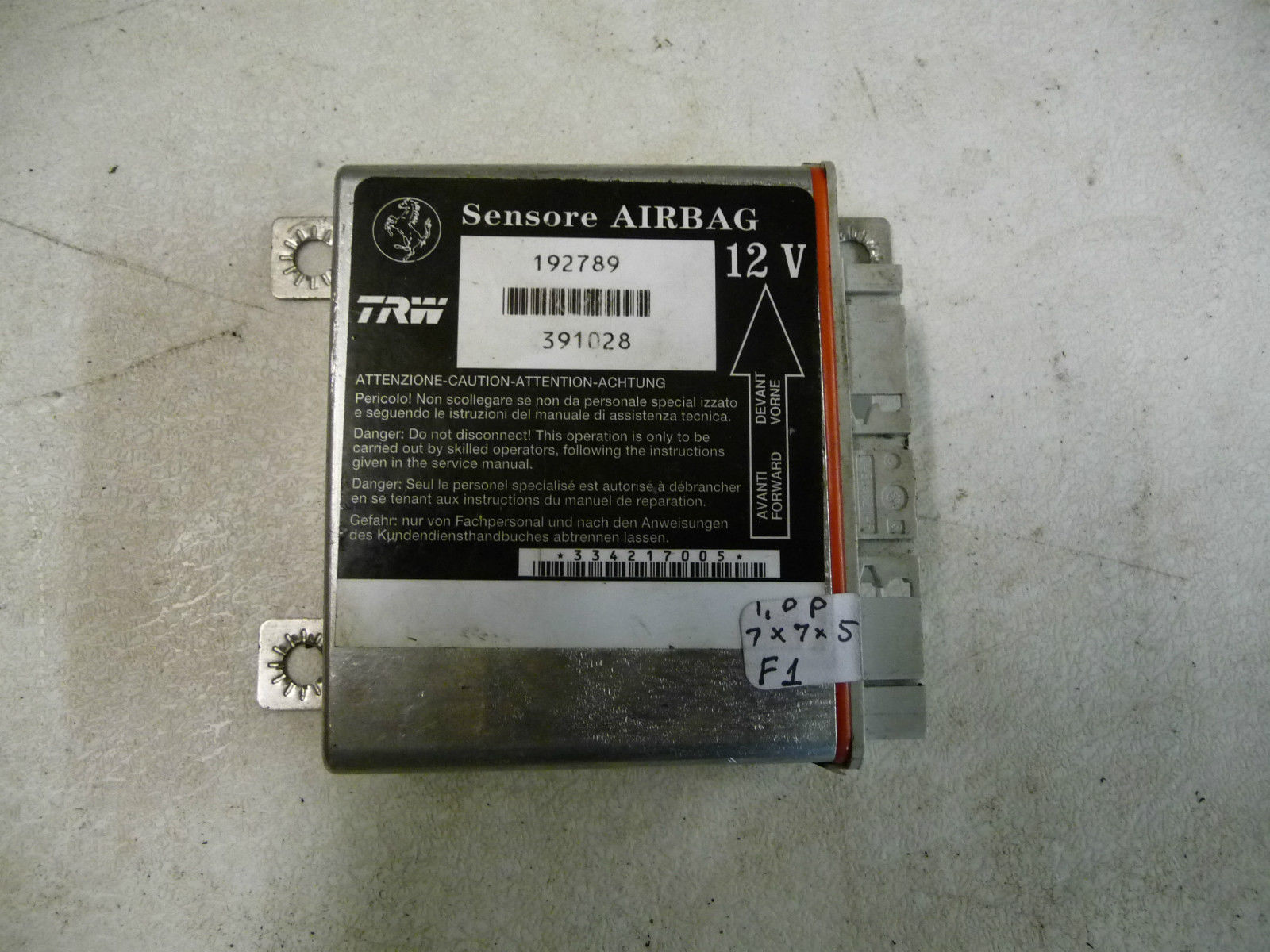Ferrari F430 430 Air Bag Control Unit 192789 - Used Auto Parts Store | LA Global Parts