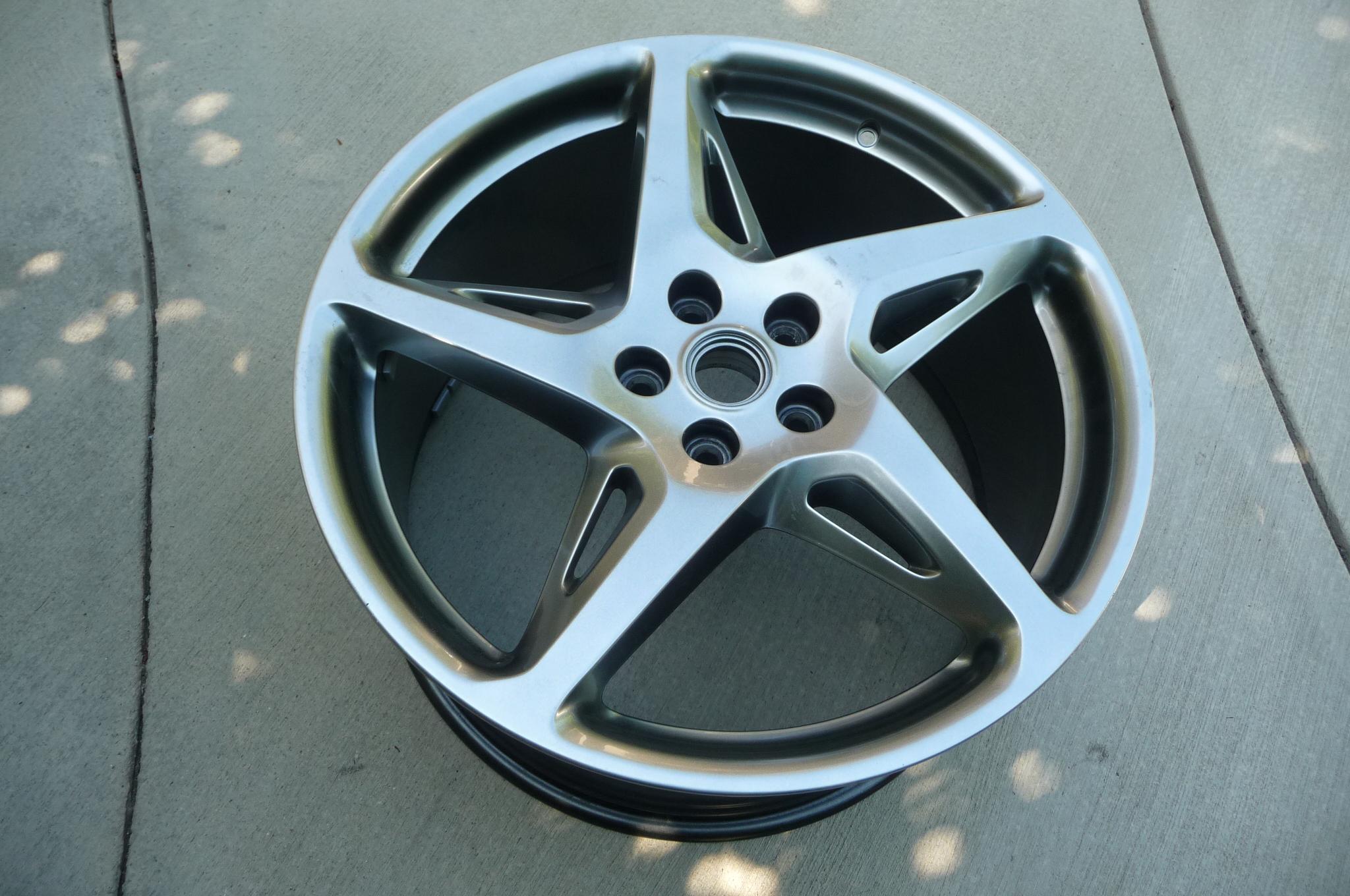 "2010 2011 2012 2013 2014 2015 Ferrari 458 Italia Rear 20"" Fuso Rim Wheel BBSRD481 Chrome Painted 262893 OEM"