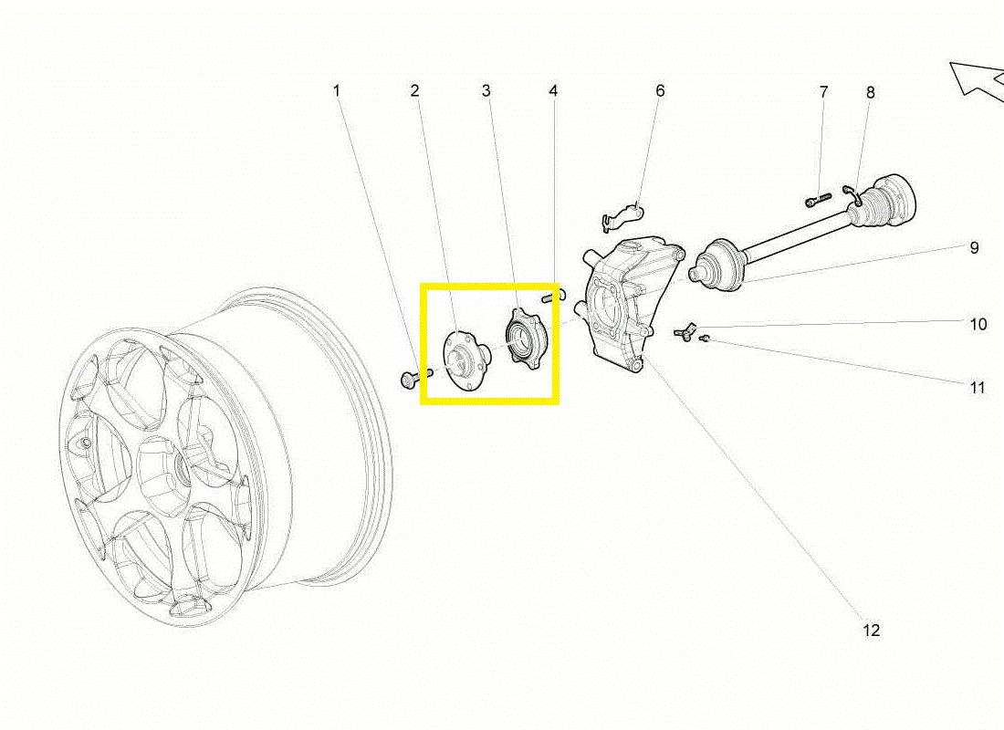 2004-2014 Lamborghini Gallardo Front Bearing with Hub