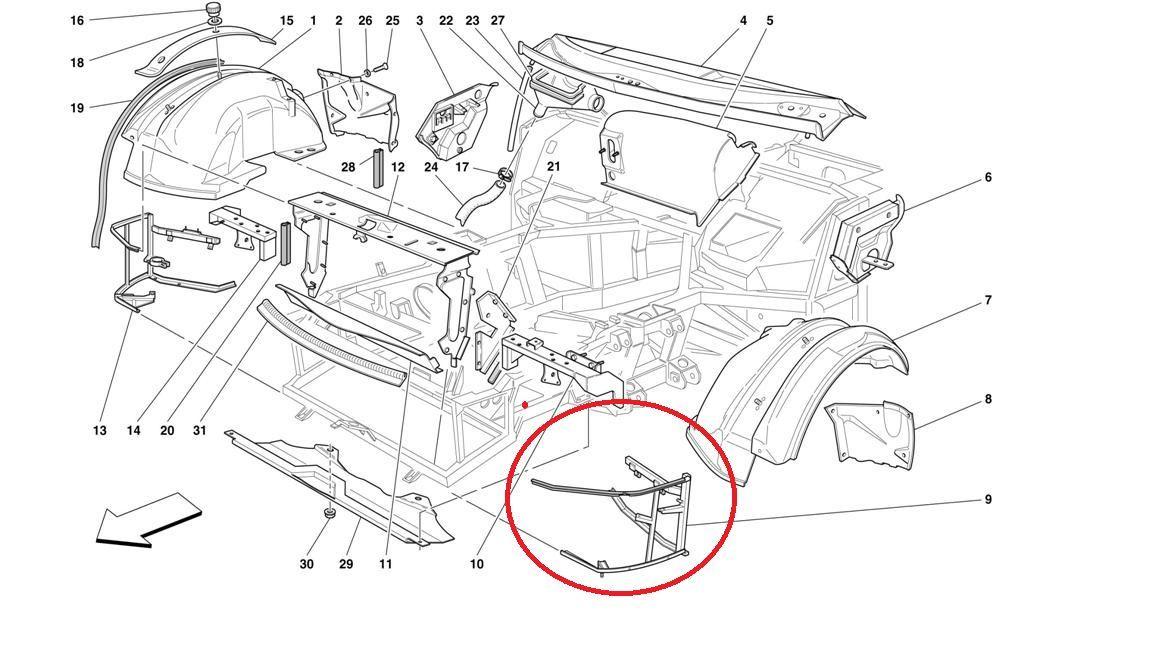 1999-2001 Ferrari 456 M Left Driver LT LH Front Space