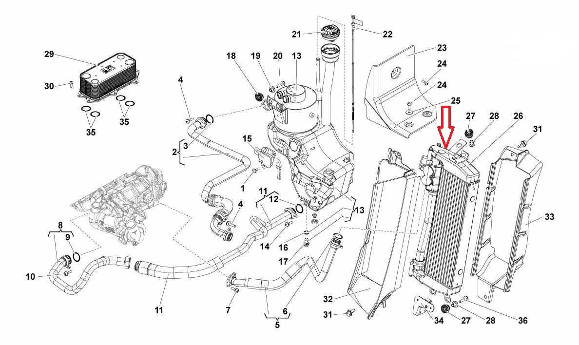 2010-2014 Lamborghini Gallardo LP560 Oil System Radiator
