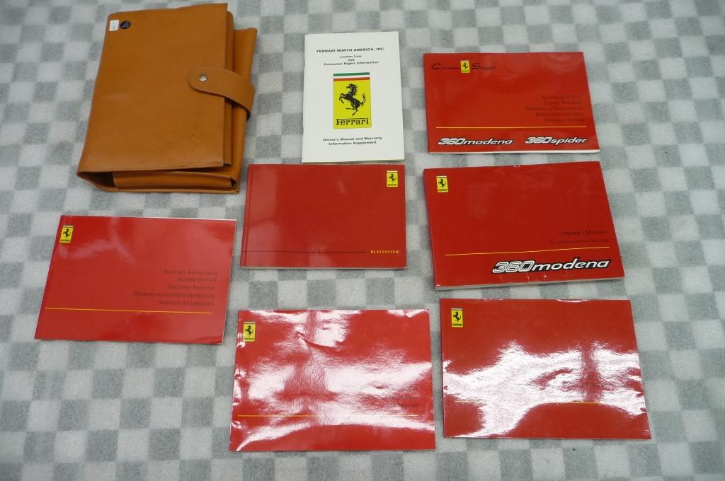 2002 Ferrari F360 360 Modena Owners Manual / Book / Leather Pouch Case 195298 OEM