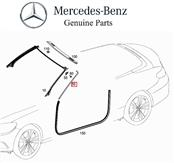 2017 2018 Mercedes Benz C300 Coupe Right Passenger Side Molding Trim Strip, Matte Silver A2056700602 2B12 ; A20567006022B12 OEM OE