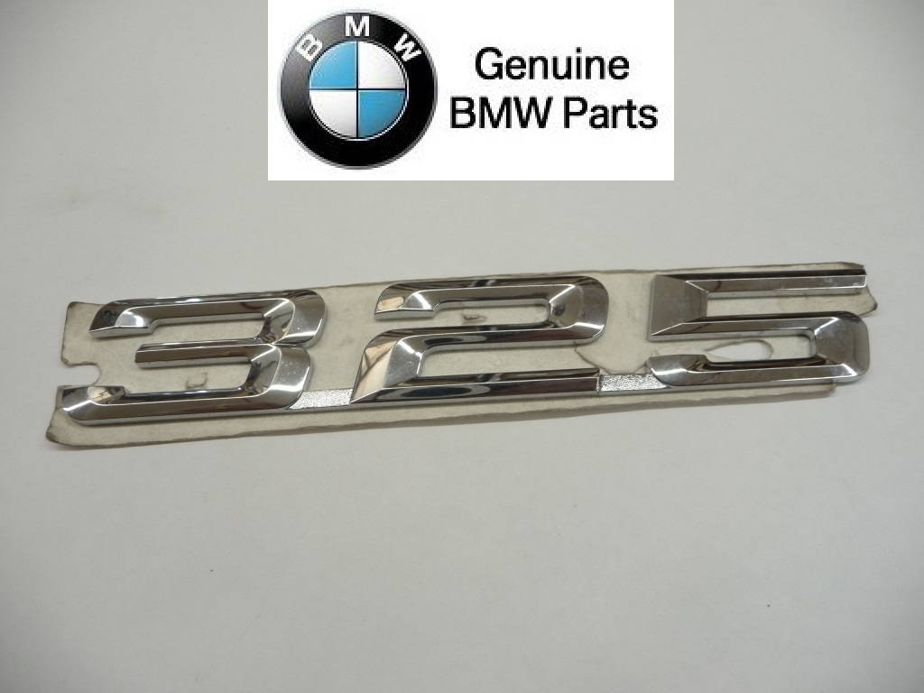 "1992 1993 1994 1995 BMW E36 325i 325is Rear Trunk Lid ""325"" Emblem Logo Badge Sign Nameplate 51141960225 OEM OE"