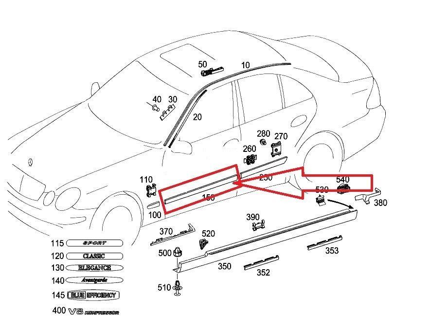 Mercedes Benz E Class Front Left Door Ledge A 2116901962