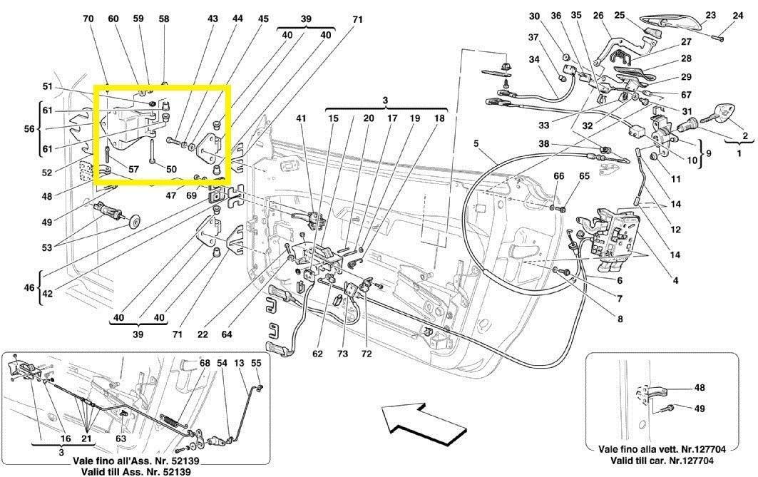 Ferrari 360,430 Door Hinge assembly 64803200; 64803300 OEM