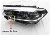 2017 2018 2019 BMW G30 530i 530e Left Driver side Adaptive LED Headlight 8499127; 63117214965 For Parts