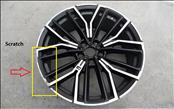 2021 BMW G30 G31 530i Disc Wheel, LT.Alloy, Jet Black, Matte, 8JX20 36118747237 ; 8747237 ; 8747236 OEM OE
