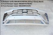 2019-2020 Lamborghini URUS front bumper Cover Upper and Lower Central Grille Part : 4ML807639BY9B (Shiny / Glossy Black Central Grille; 2) 4ML807437BGRU (Primer) 3) 4ML898933GRU (Primer)